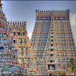 Brightly colored Hindu Temples