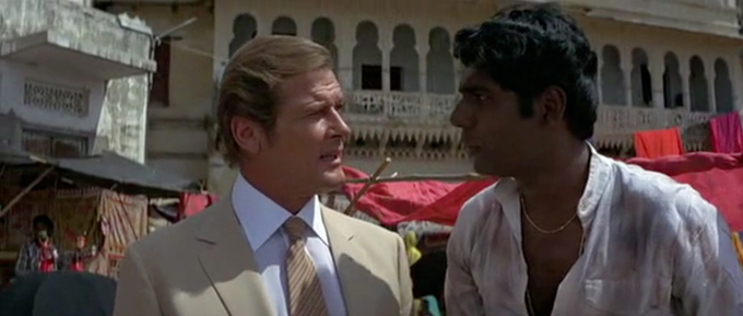 Roger Moore and Vijay Amritraj
