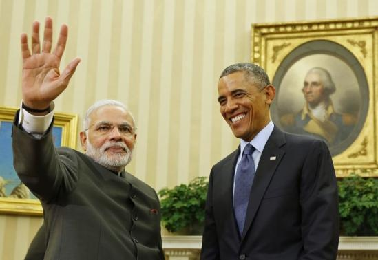 U.S. President Barack Obama hosts a meeting with India's PM Narendra Modi at the White House in Washington